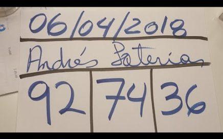 NUMEROS PARA HOY 06/04/18 DE ABRIL PARA TODAS LAS LOTERIAS. NUMEROS REALES, GANAR LA LOTERIA!!!!