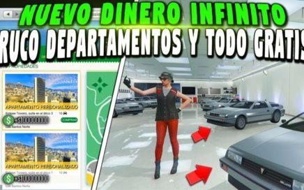 *PARCHADO*  DINERO INFINITO CON DEPARTAMENTOS Y TODO GTA 5 GRATIS SE GUARDA BRUTAL! GTA 5 ONLINE