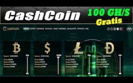 CashCoin | Gana Dinero Gratis En Automatico | Mineria En La Nube
