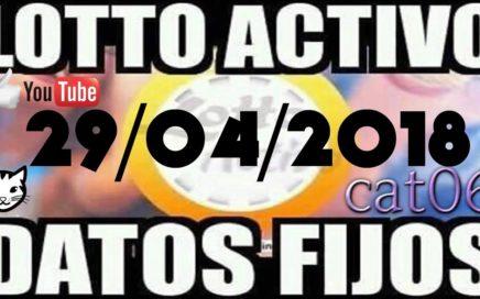 LOTTO ACTIVO DATOS FIJOS PARA GANAR  29/04/2018 cat06