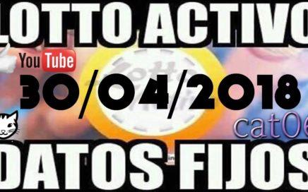 LOTTO ACTIVO DATOS FIJOS PARA GANAR  30/04/2018 cat06