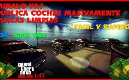 MIRALO YA! EL MEJOR TRUCO DE GTA V ONLINE 1.43 DUPLICAR COCHES MASIVO  PS4 - XBOX ONE