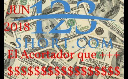 123short ! Ganar dinero con el Acortado + $$$ Retiros desde $1USD - Paypal