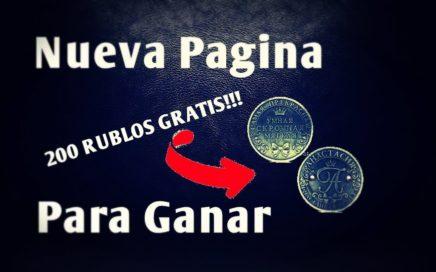200 RUBLOS GRATIS | PAGINA PARA GANAR RUBLOS POR INTERNET | MÍNIMO DE RETIRO 1 RUBLO