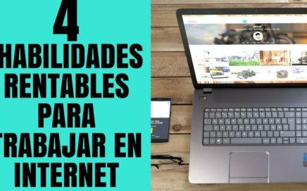 4 HABILIDADES RENTABLES para Ganar Dinero como Freelancer en Internet