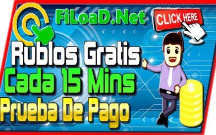 Fiload Gana Rublos GRATIS SIN INVERTIR Bono Cada 15 minutos Prueba De Pago Ganar Dinero En Internet