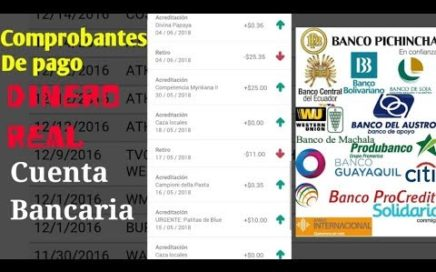 GANA DINERO  PAGOS REALES EN  24 Horas  Cuentas Bancarias de Ecuador