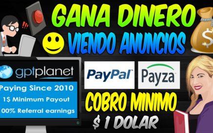 GptPlanet Gana dinero a Paypal o Payza viendo Anuncios 2017   Mejores PTC    Dinero Online