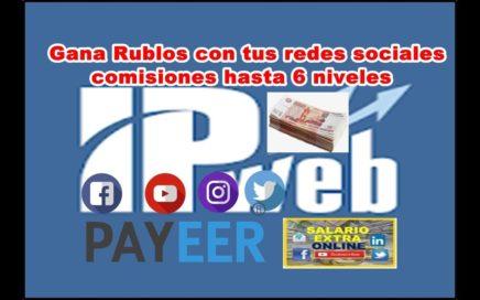 IPwep paga rublos por hacer tareas con tus redes sociales