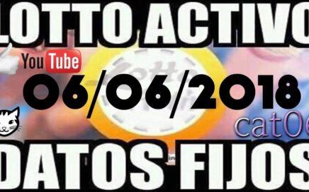 LOTTO ACTIVO DATOS FIJOS PARA GANAR  06/06/2018 cat06