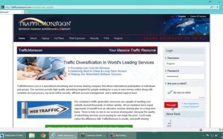 Tutorial TrafficMonsoon como ganar dinero FÁCIL 2015 ¿Qué es y cómo funciona? PTC