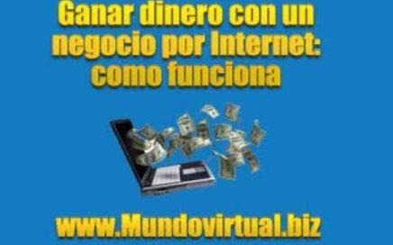 Ganar dinero con un negocio por internet:como funciona