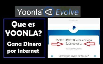GENERA INGRESOS (COMO TRABAJAR POR INTERNET Y GANAR DINERO) QUE ES YOONLA?