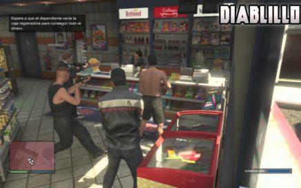 GTA V ONLINE: Como Conseguir Mas Dinero Robando Tiendas & No Tener Estrellas Despues De Robar