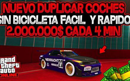 NUEVO! DUPLICAR COCHES *SIN BMX* FUNCIONANDO FACIL Y RAPIDO (2.000.000$ CADA 4 MINUTOS)