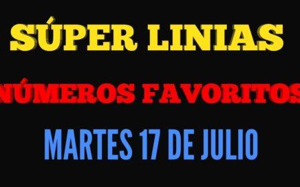 NUMEROS PARA HOY 17/07/18 MARTES DE JULIO