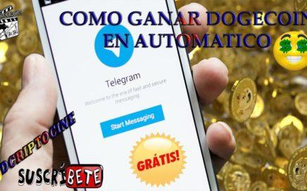 COMO GANAR DOGECOIN EN AUTOMATICO CON TELEGRAM, PRUEBA DE PAGO, PC Y ANDROID