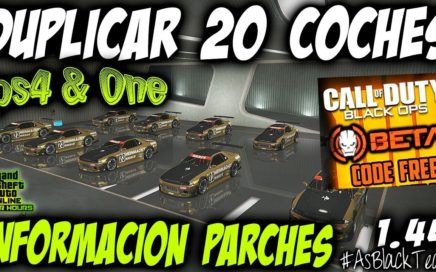 "DUPLICAR 20 COCHES MASIVO - GTA 5 - PLACAS LIMPIAS - CODIGO BETA BO4 ""GRATIS"" - (PS4 - XBOX One)"