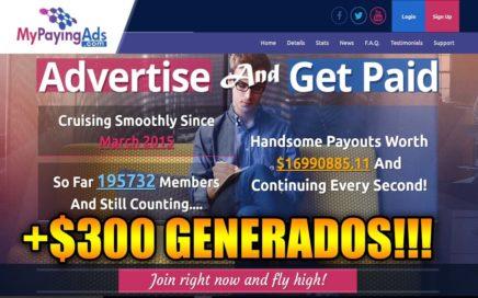 SCAM | My Paying Ads | +$300 DOLARES GENERADOS | LA MEJOR REVSHARE PARA GANAR DINERO POR INTERNET