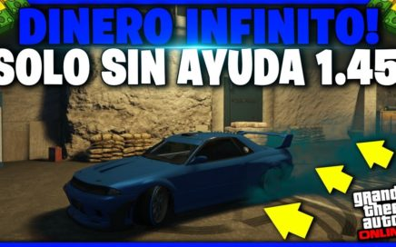 SOLO SIN AYUDA! DUPLICAR AUTOS DE LUJO - GTA V - TRUCO DE DINERO *MEJORADO* GTA 5 ONLINE 1.45