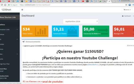 Gana Dinero Para Tu Paypal Con el Acoprtador 123short 2018