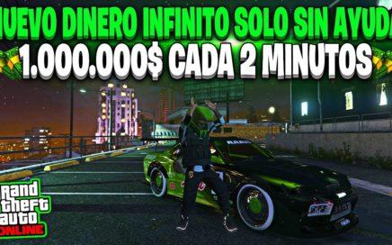 NUEVO! DINERO INFINITO *SOLO SIN AYUDA* CONSIGUE 1.000.000$ CADA 2 MINUTOS GTA 5 ONLINE 1.45