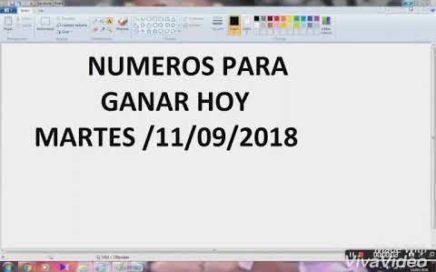 NÚMEROS PARA HOY 11/09/2018