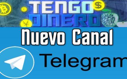 Tengo Dinero Nuevo Canal En TELEGRAM GRATIS