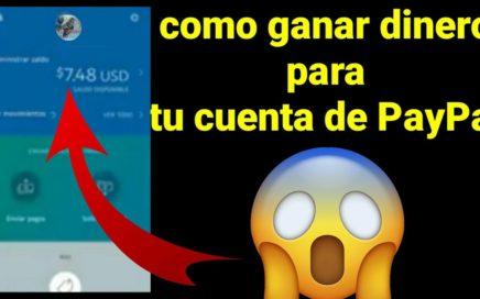 Mira y gana *Dolares gratis Para tu cuenta de PayPal nueva aplicación 2018