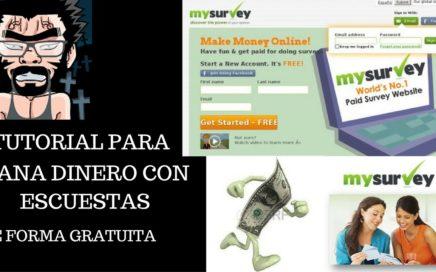 MYSURVEY Ganar Dinero Haciendo Encuestas Es Posible| Gana Dinero Con Derrotalacrisis