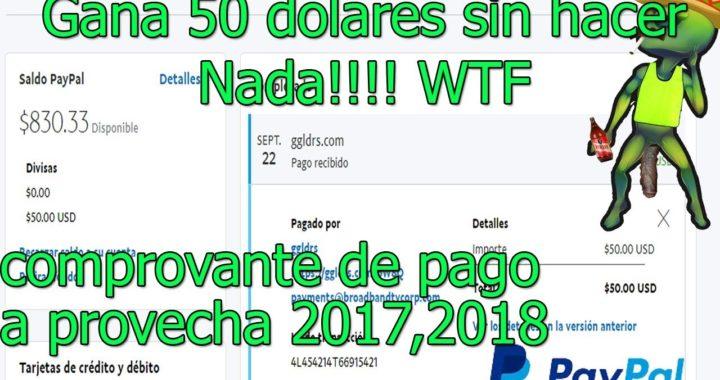 Como Ganar Dinero Para Paypal hasta 50 dolares sin hacer nada!! aprovecha (2017,2018)