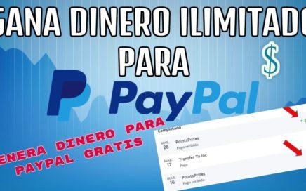 Ganar dinero para paypal gratis/ genera 20$ ilimitadamente/ Dinero facil