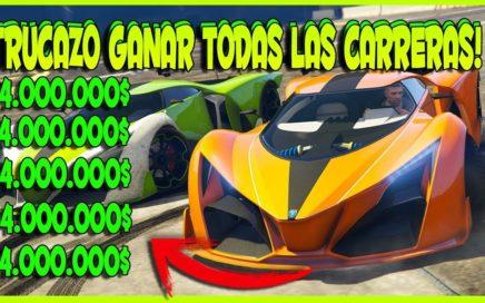 ¡HE CONSEGUIDO 4.000.000$ HACIENDO ESTE TRUCO PARA GANAR TODAS LAS CARRERAS GTA V ONLINE 1.41!