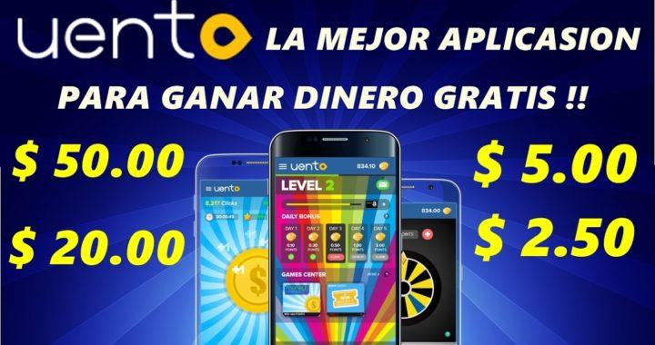 Uento | Como ganar dinero gratis desde tu celular. Video tutorial para ganar dolares gratis !!