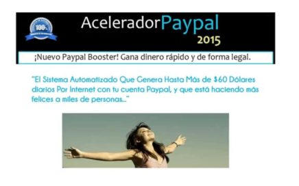 !Acelerador Paypal 2017! Ganar Dinero con Paypal hasta $ 20 dolares diarios