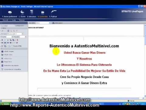 Capitulo XII Tutorial Creando Tu Propia Web - Sistema Para Ganar Dinero Extra En Internet