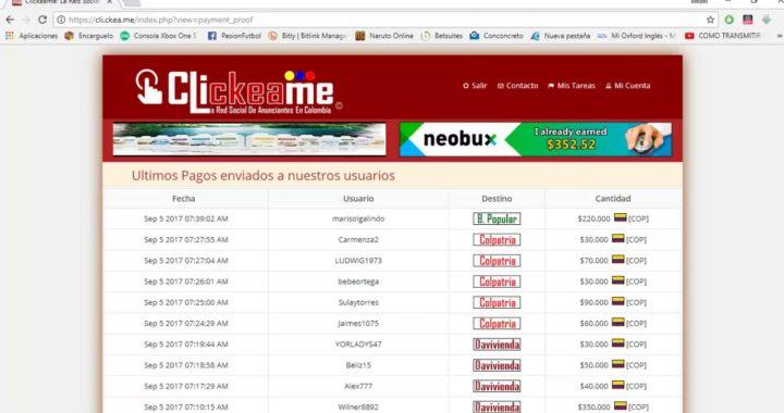 CLICKEAME GANAR DINERO EXTRA EN COLOMBIA