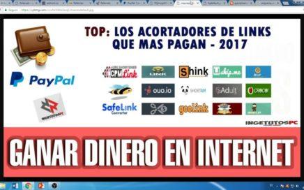 COMO GANAR DINERO CON INTERNET 100% GARANTIZADO UTILIZANDO MEJORES ACORTADORES TRABAJA DESDE CASA