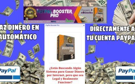 Como  Ganar Dinero En Tu Cuenta Paypal Todos Los Días En Automático| Sistema Paypal Boosterpro!