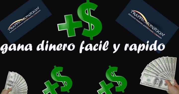 COMO GANAR DINERO FACIL Y RAPIDO 20015/de 6 a 20 dolares diarios/ traficmoonson HD 720p