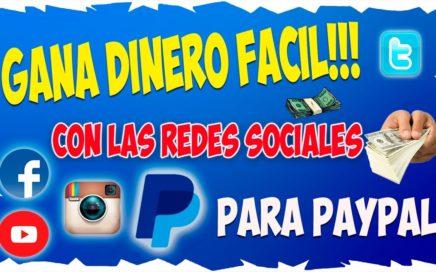 Como Ganar dinero para Paypal Gratis | con Facebook, Twitter y Youtube 2016