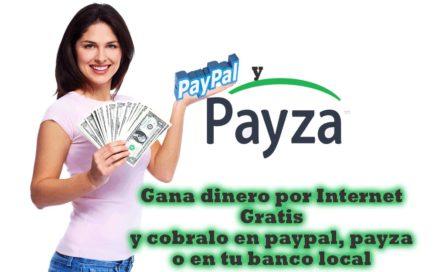 Como Ganar dinero por Internet 2017 (110 USD en payza y paypal)
