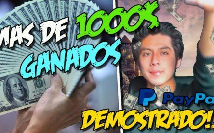 COMO GANE MAS DE 1000$ CON ESTA APLICACIÓN | La mejor aplicación para ganar dinero 2017 DEMOSTRADO
