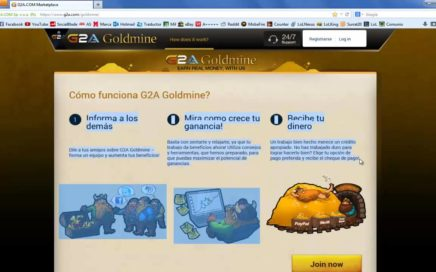 Compra Keys de Videojuegos o Gana Dinero Online [G2A Goldmine]