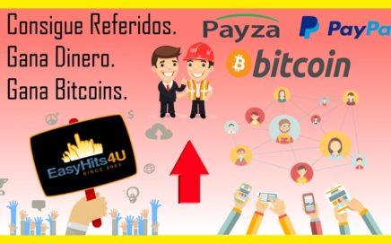 Consigue Referidos Gratis - Gana Dinero - Gana bitcoins - Easyhits4u - Trabaja Desde Casa