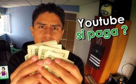 ¿CUANTO DINERO GANO CON YOUTUBE? (LO ENSEÑO)  | segundo pago en efectivo /ANB