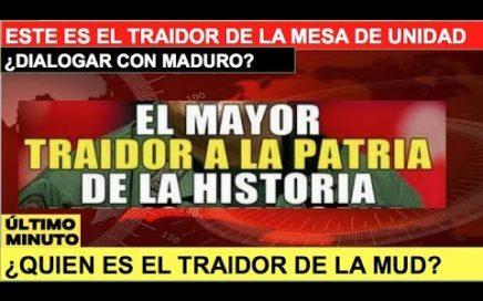 Descubren al traidor de la MUD en Venezuela