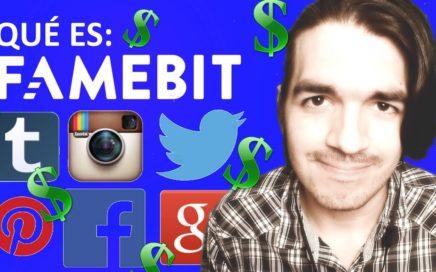 Famebit: Ganar dinero con redes sociales | Twitter Facebook Instagram Youtube