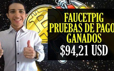 FAUCETPIG 7mo 8vo y 9no PAGO [$94,21 USD 927300 BTC] Gana Bitcoin cada 5 MINUTOS de forma GRATUITA.