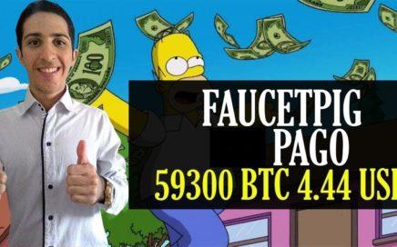 Faucetpig Pago de 59300 BTC 4,44 USD Pagando(Pruebas de pago)